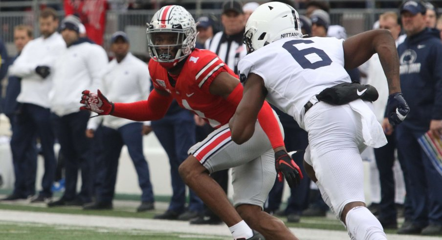 Jeff Okudah did his best Richard Sherman impression for the 2019 Buckeyes