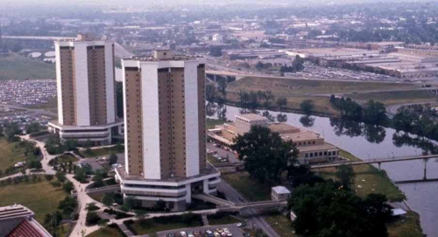 Aerial view of Morrill and Lincoln Towers