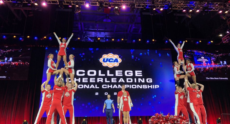 OSU Cheer Team at the UCA National Championship