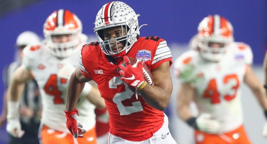J.K. Dobbins rushed for over 100 yards in 10 of 14 games in 2019.