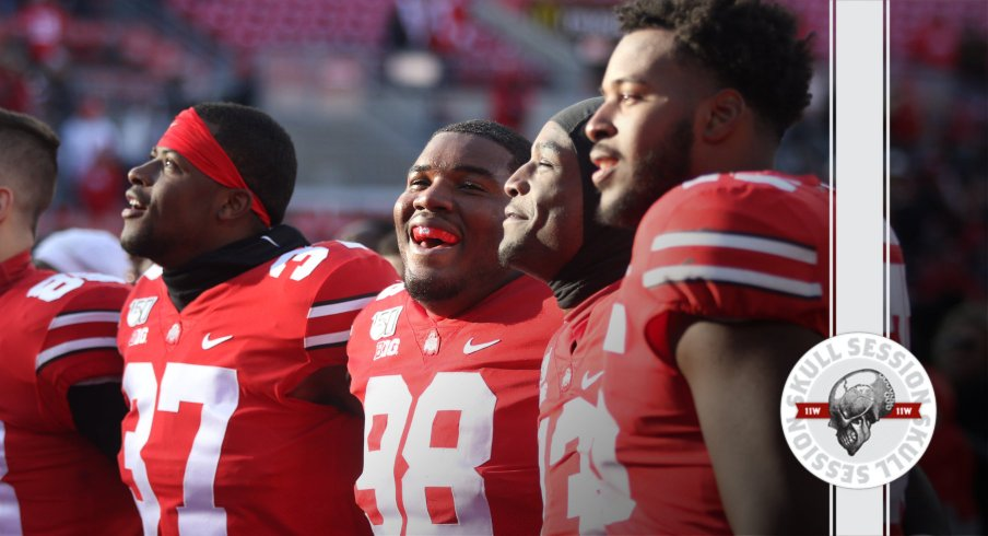 The Buckeyes are happy in today's skull session.