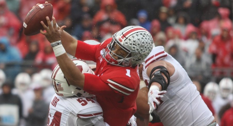 Justin Fields and Ohio State's offensive line combined to surrender 2.50 sacks per game in 2019, good for 99th in the country.