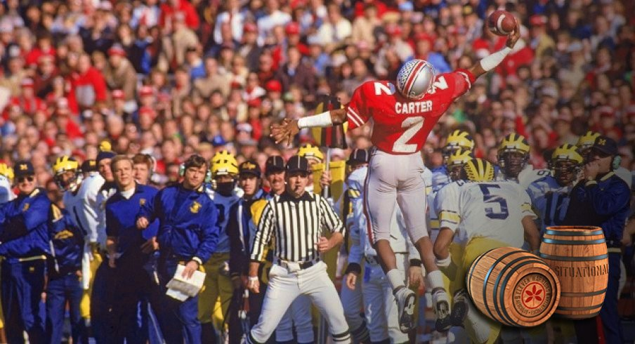 cris carter going up high in 1984