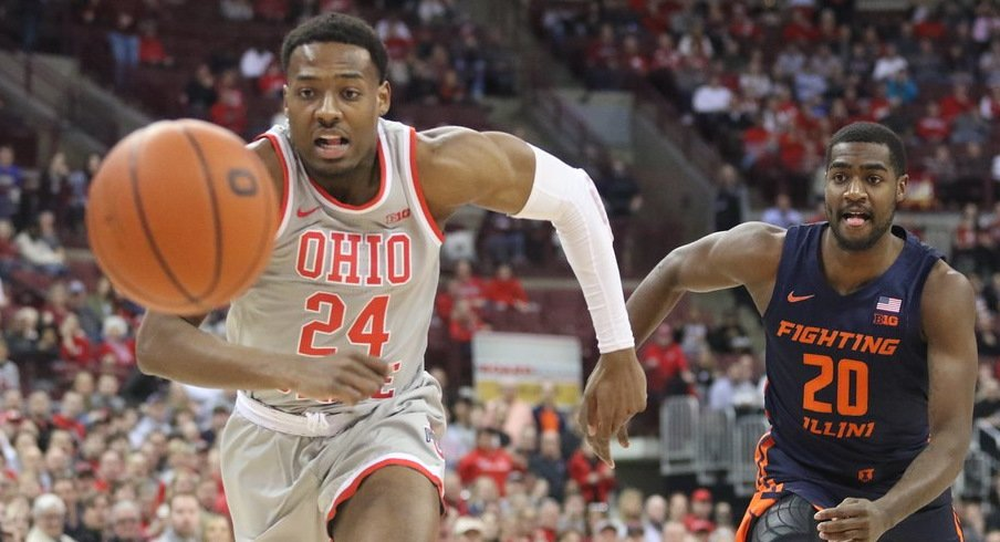 Ohio State men's basketball player Andre Wesson