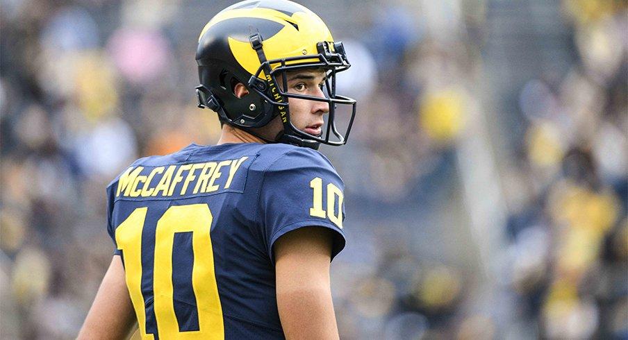 Michigan quarterback Dylan McCaffrey