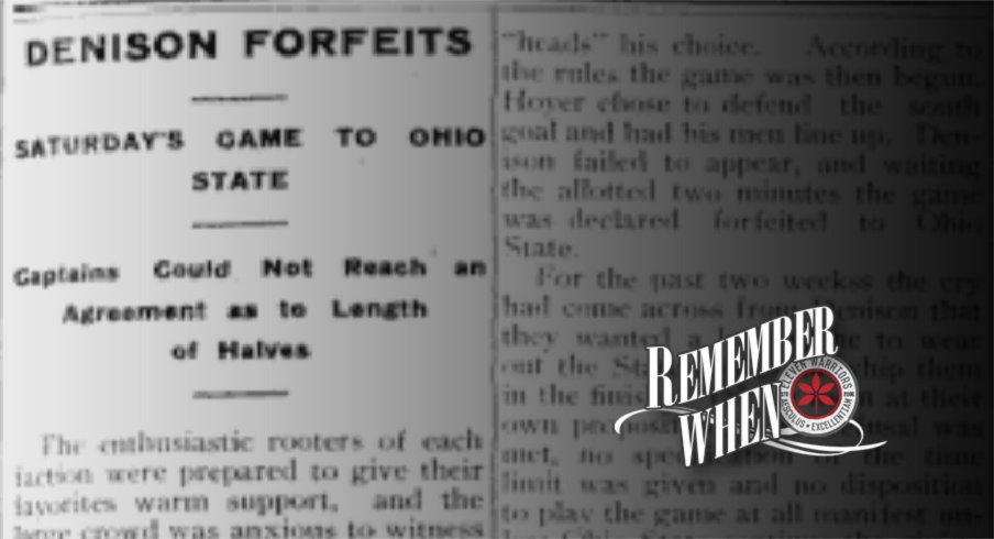 Remember when Denison forfeited against Ohio State.