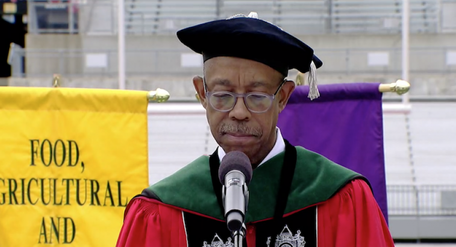 President Michael Drake in today's virtual commencement.