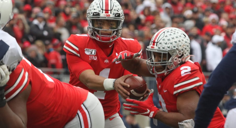 The Buckeye offense proved lethal when using the threat of the run to open up the pass.