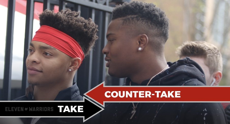 Justin Fields and Dwayne Haskins