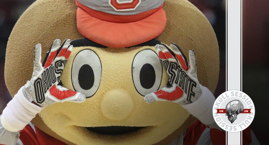 Brutus is staring into your soul in today's skull session.