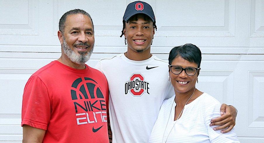 Jordan Hancock and his parents
