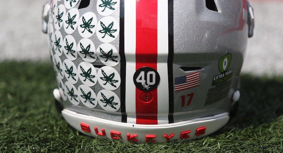 Ohio State helmet.
