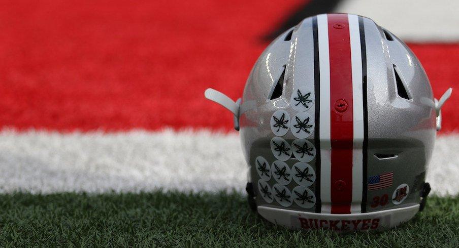 Ohio State football helmet.
