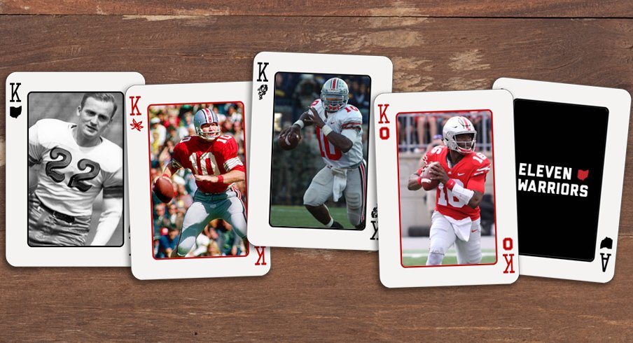 Les Horvath, Rex Kern, Troy Smith and J.T. Barrett
