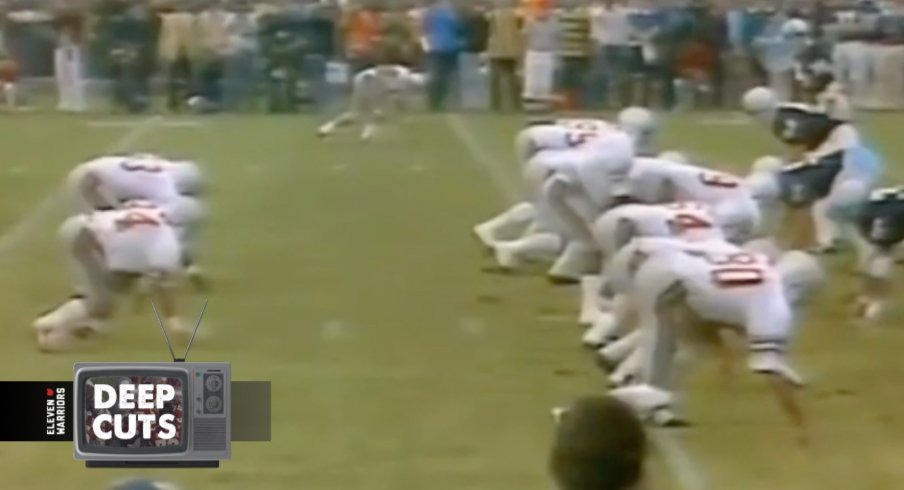 Ron Gerald, Pete Johnson, and Jeff Logan carried the Buckeyes to their first win in Beaver Stadium