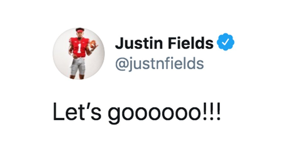 Justin Fields is ready to go