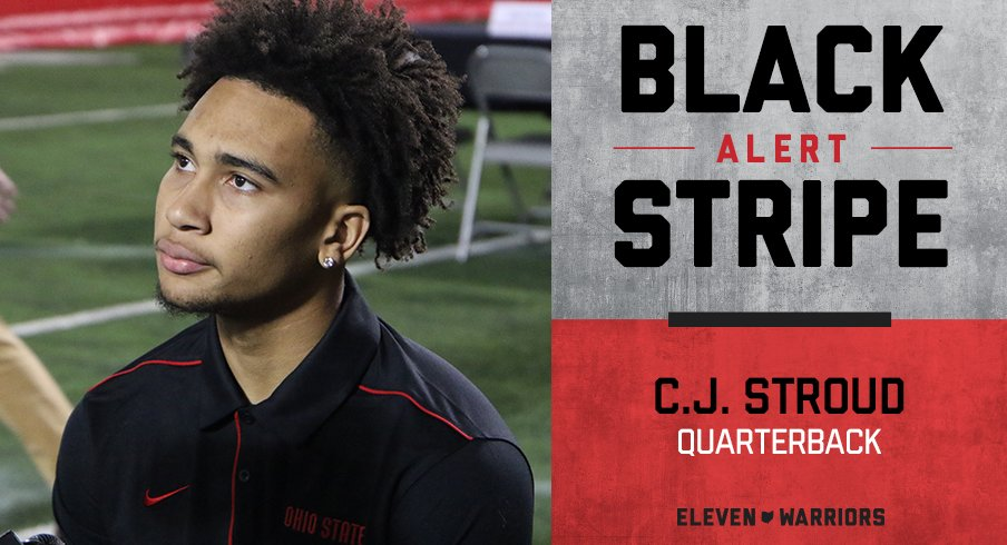 CJ Stroud loses black stripe.