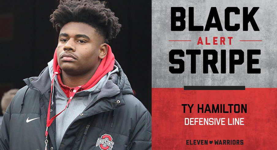 Ty Hamilton is the latest Buckeye to lose his black stripe.