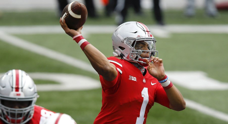 Almost Perfect Justin Fields Begins Heisman Trophy Campaign With Standout Performance In Season Opening Win Eleven Warriors
