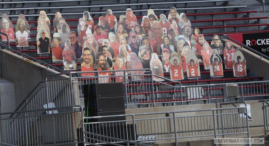 Fan cutouts at Ohio Stadium