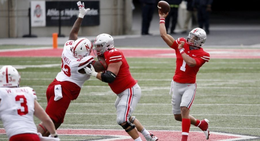 Five Things Justin Fields Puts On A Show Alongside Sluggish Rushing Attack As Ohio State Routs Nebraska Eleven Warriors