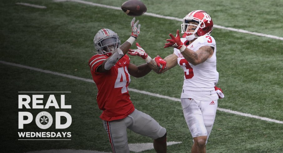 Josh Proctor defending a pass against Indiana wide receiver Ty Fryfogle
