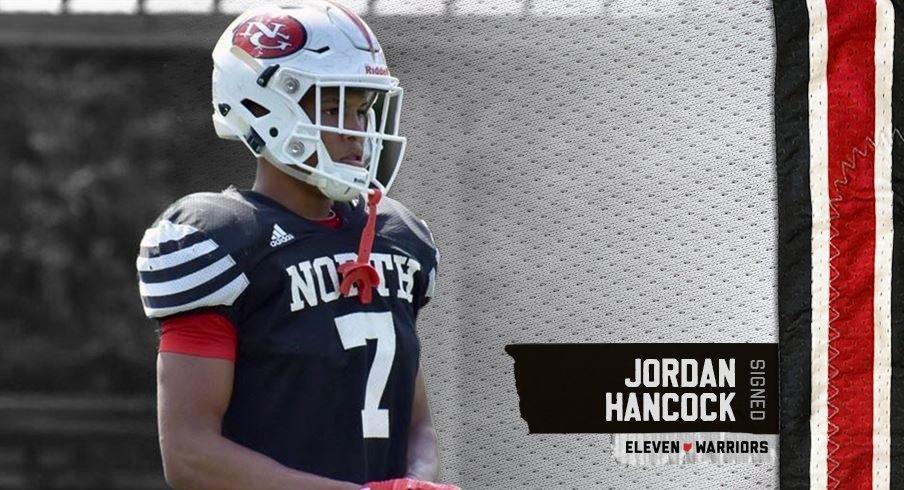 Four-star cornerback Jordan Hancock is officially a Buckeye.