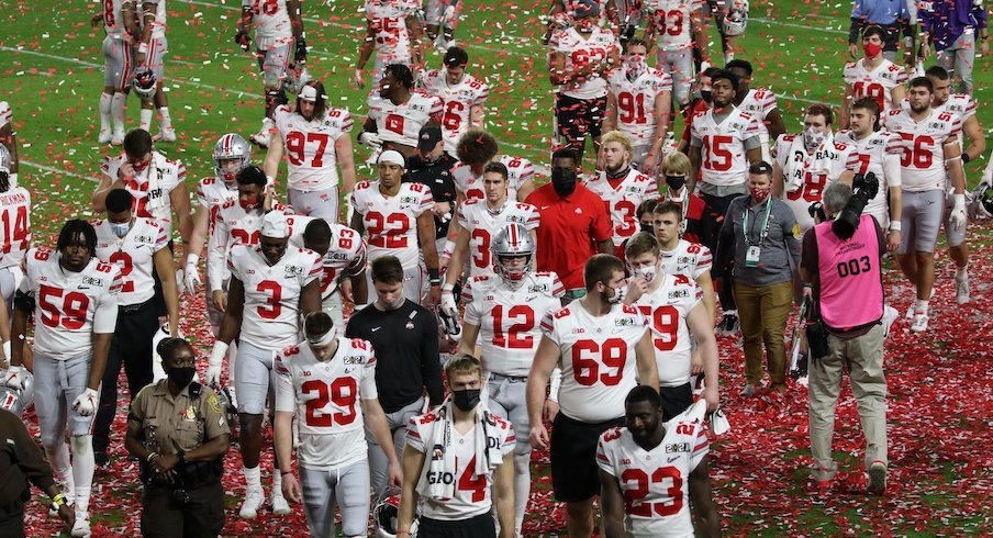 Ohio State football players after the national championship loss