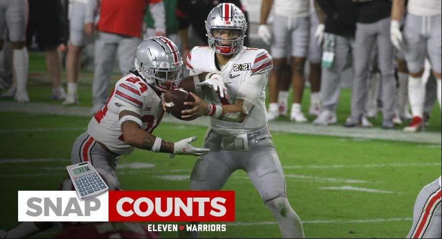 Justin Fields and Marcus Crowley vs. Alabama