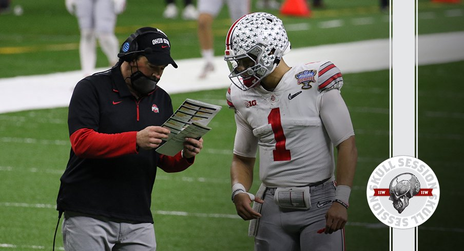 Justin Fields and Ryan Day are talking it over in today's skull session.