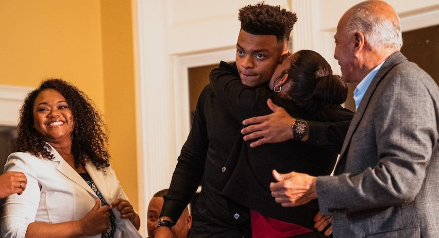 Justin Fields and his family