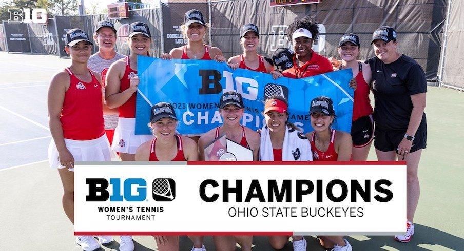 Ohio State women's tennis wins the 2021 Big Ten championship.