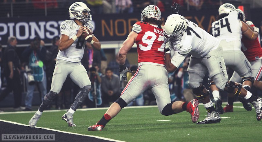 Ohio State vs. Oregon in the 2014-15 national championship game