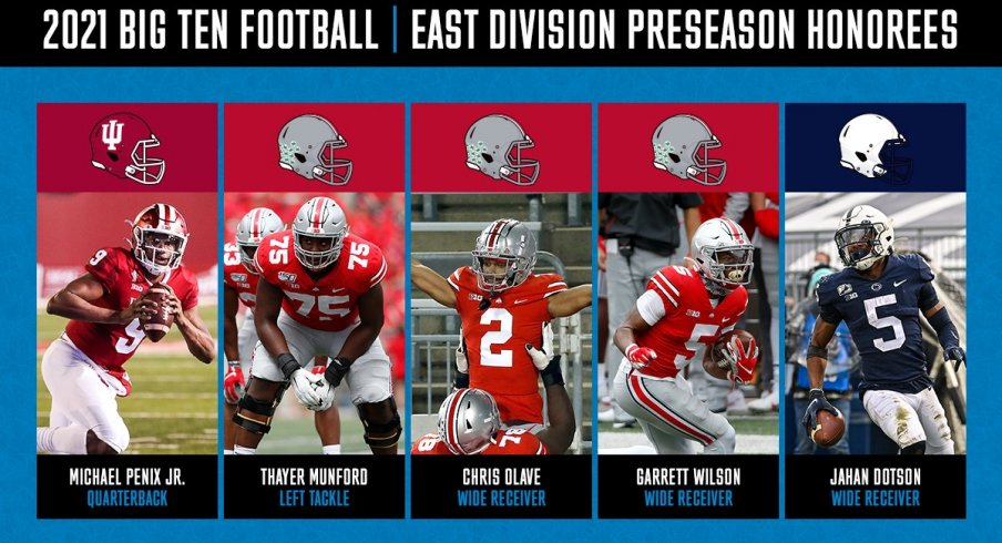Ohio State is cleaning up the preseason awards.