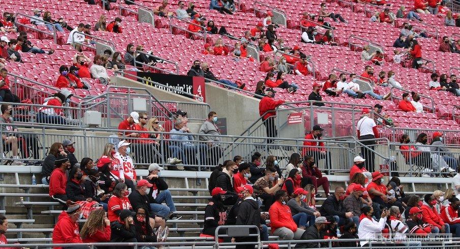 Ohio Stadium during the spring game