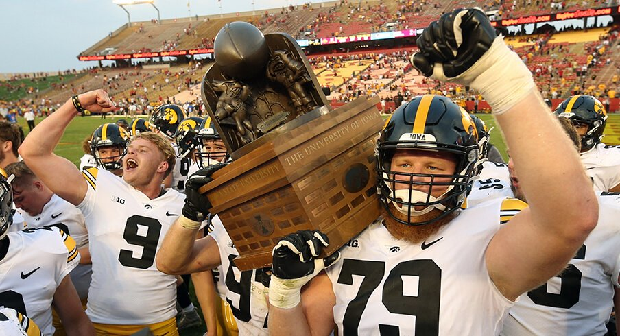 Iowa keeps the Cy-Hawk Trophy for the sixth year in a row